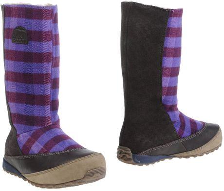 sorel boots in purple lyst