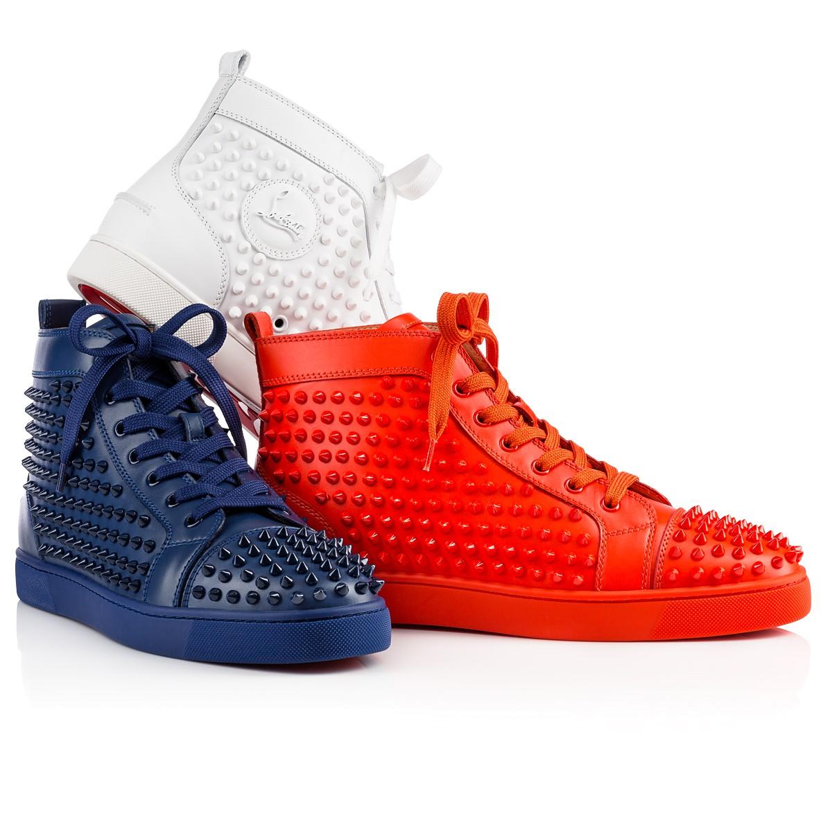 600283de437 Shoes Louis Spikes Mens Flat Christian Louboutin t