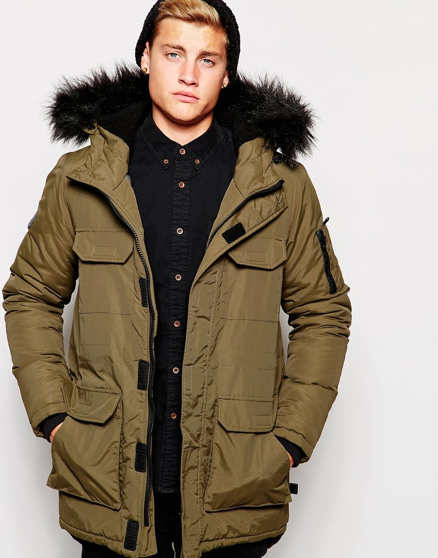 Discover men's parka coats and parka jackets at ASOS. From black parkas, camo parkas and fur lined parkas to hooded and waterproof parka jackets. Shop now. ASOS DESIGN longline parka jacket with faux fur trim in color block. $ ASOS DESIGN parka jacket with faux fur trim in black. $ ASOS DESIGN padded parka in black.