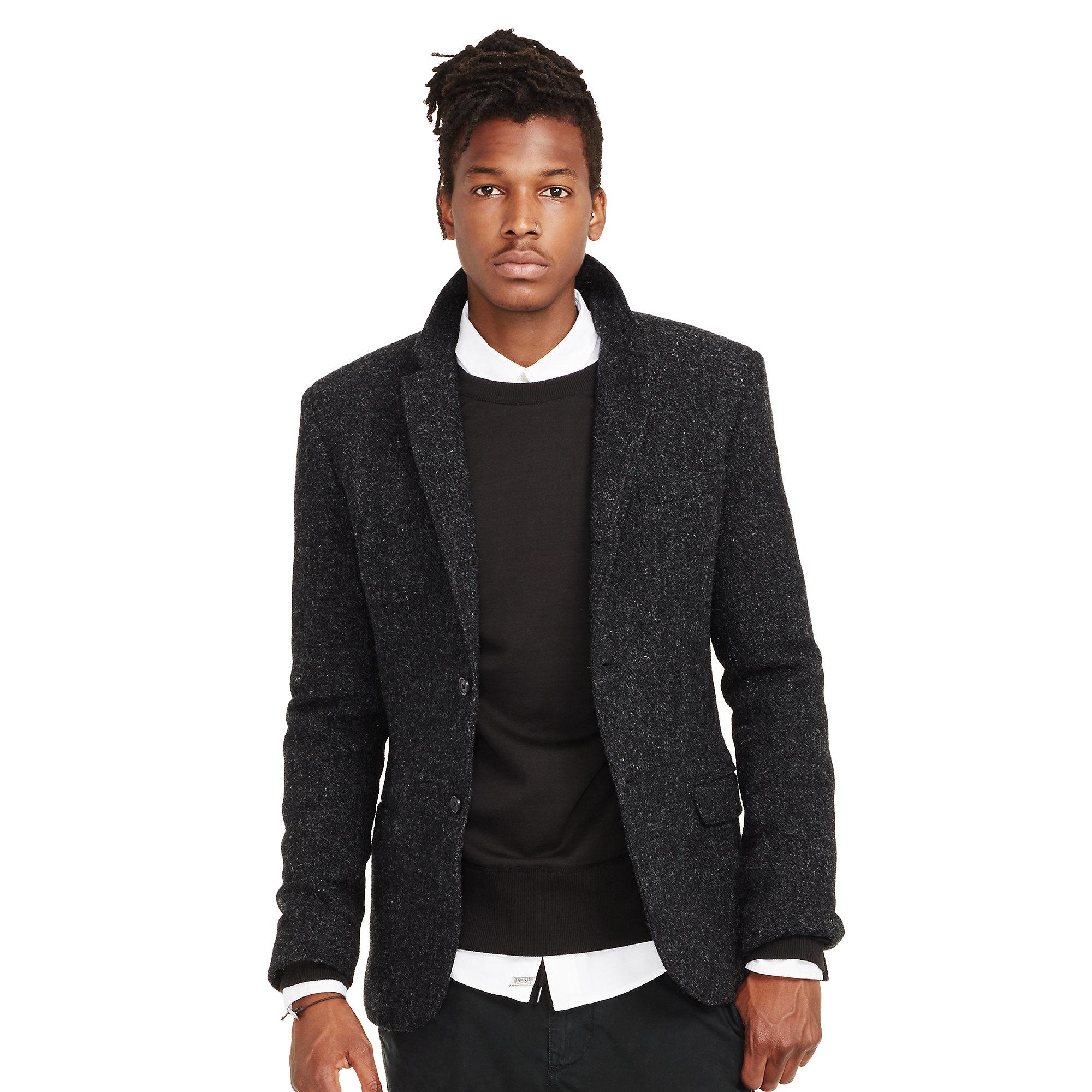 Denim & supply ralph lauren Harris Wool Tweed Blazer in Gray for ...