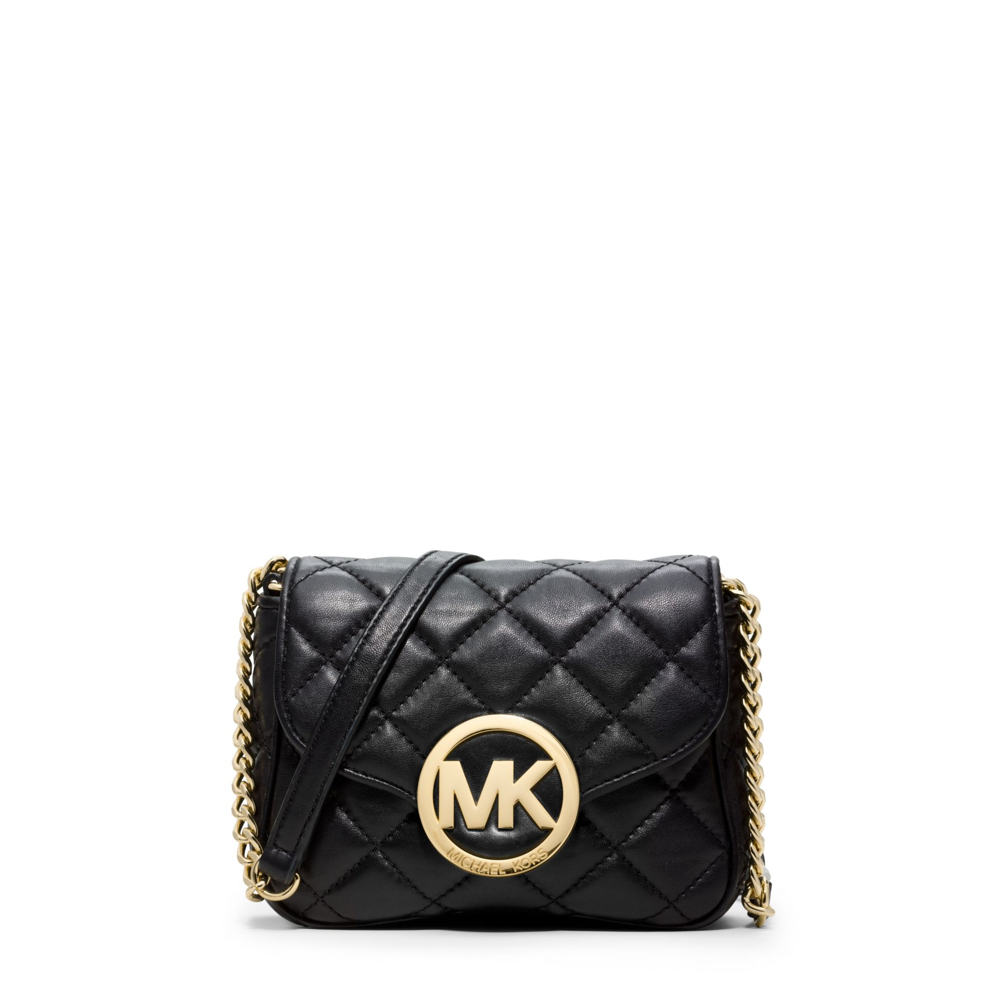 Michael kors Fulton Quilted-leather Crossbody in Black | Lyst : michael kors fulton quilted tote - Adamdwight.com