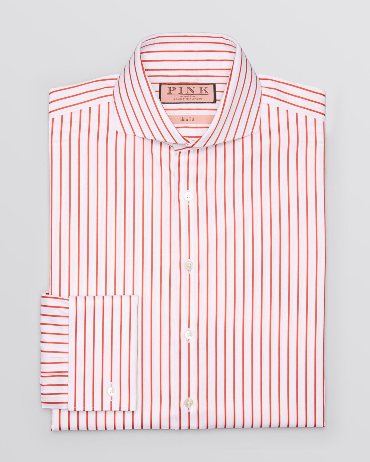 Thomas pink Sydenham Stripe Dress Shirt - Regular Fit in Red for ...