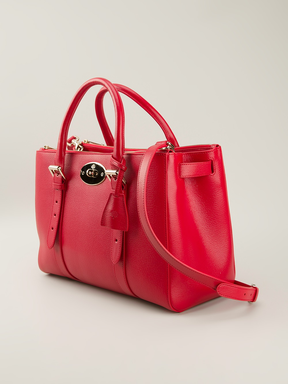 Lyst - Mulberry Bayswater Double Zip Tote in Red b9be0d8611845