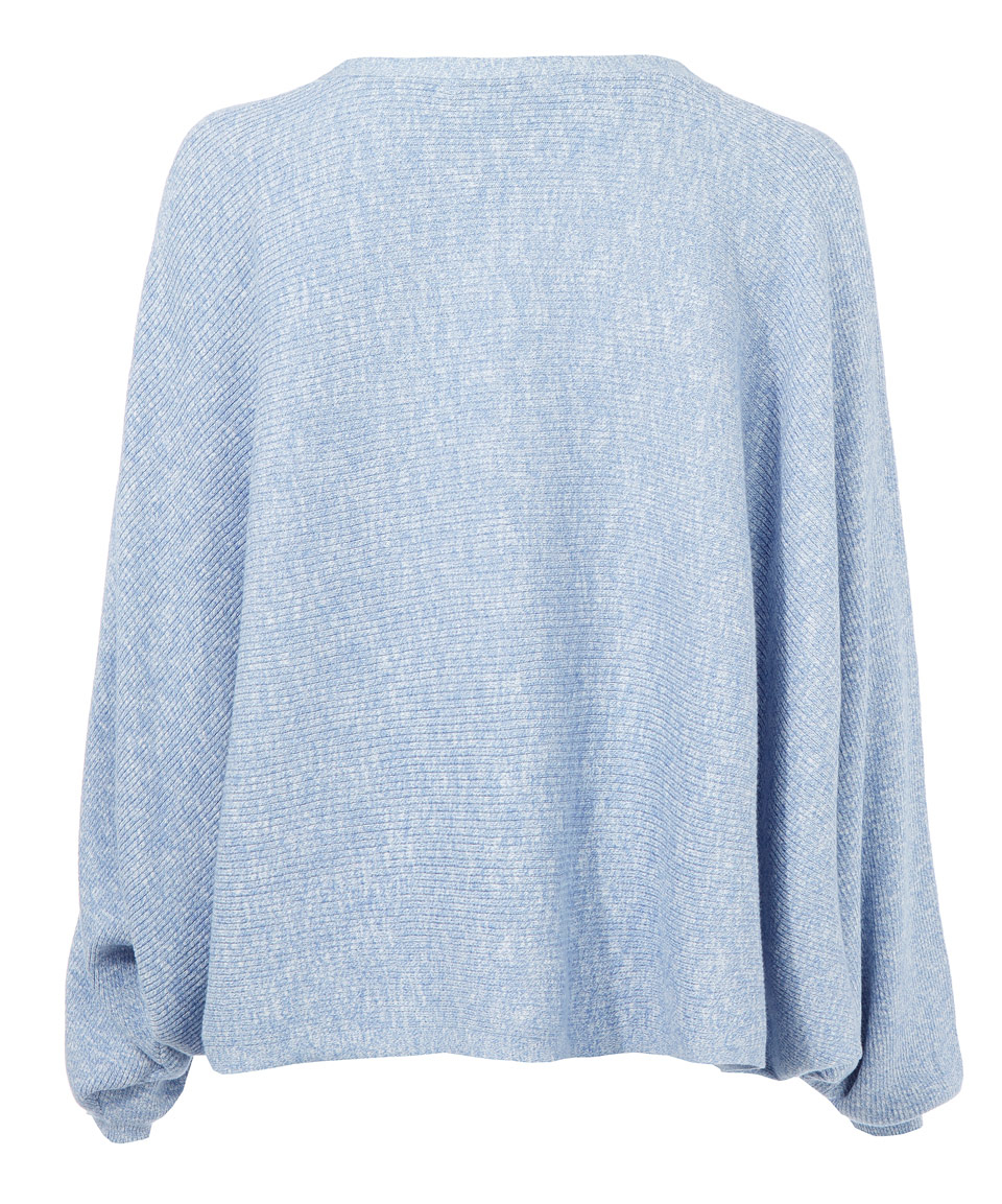 6652d58ed7 Lyst - Rodebjer Light Blue Oversized Cotton Knitted Dalia Jumper in Blue