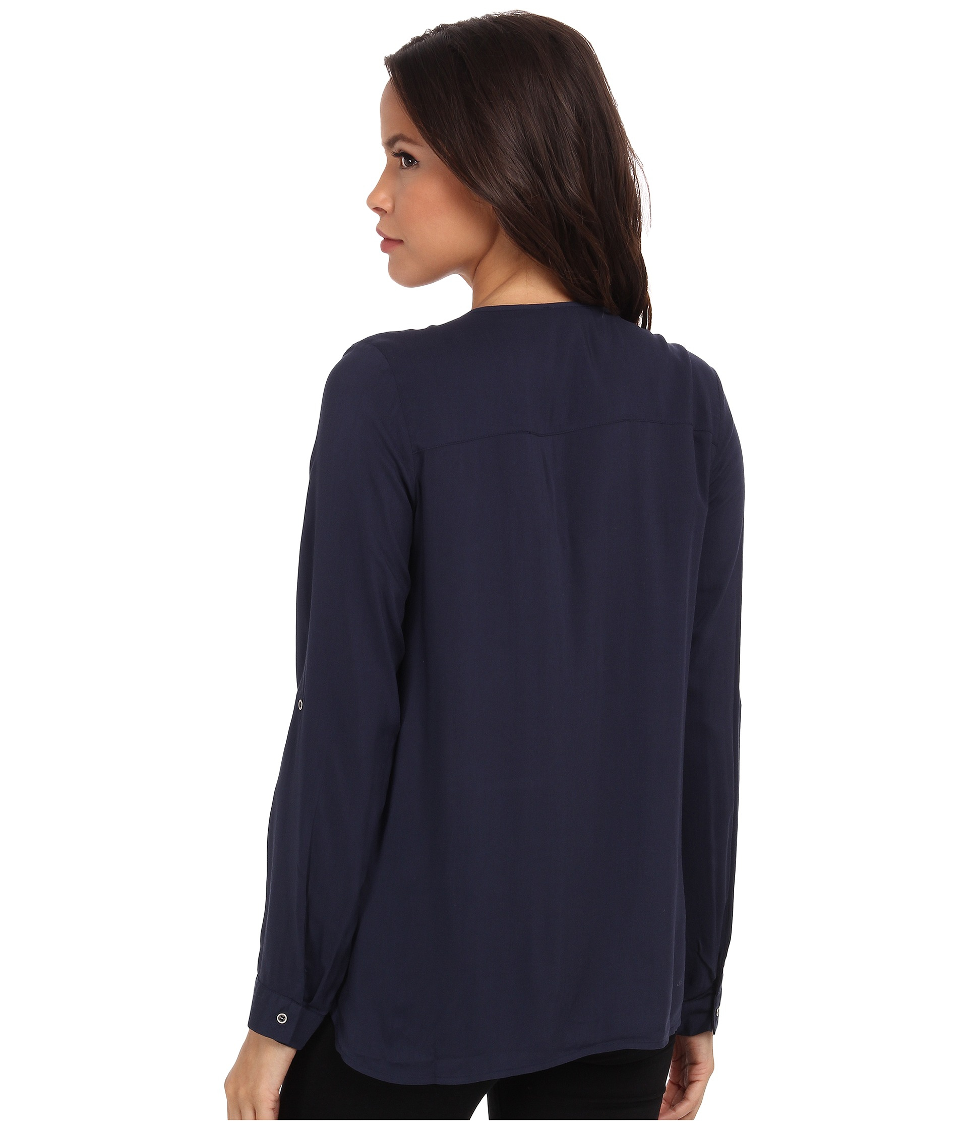 A silhouette like that of the Lulus Picture This Navy Blue Long Sleeve Lace Top is destined to be a timeless one! A rounded neckline leads into a floral lace decolletage and shoulders, above long sleeves /5(65).