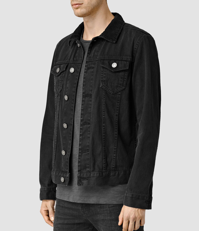 7afc5713ca6 AllSaints Bond Denim Jacket in Black for Men - Lyst
