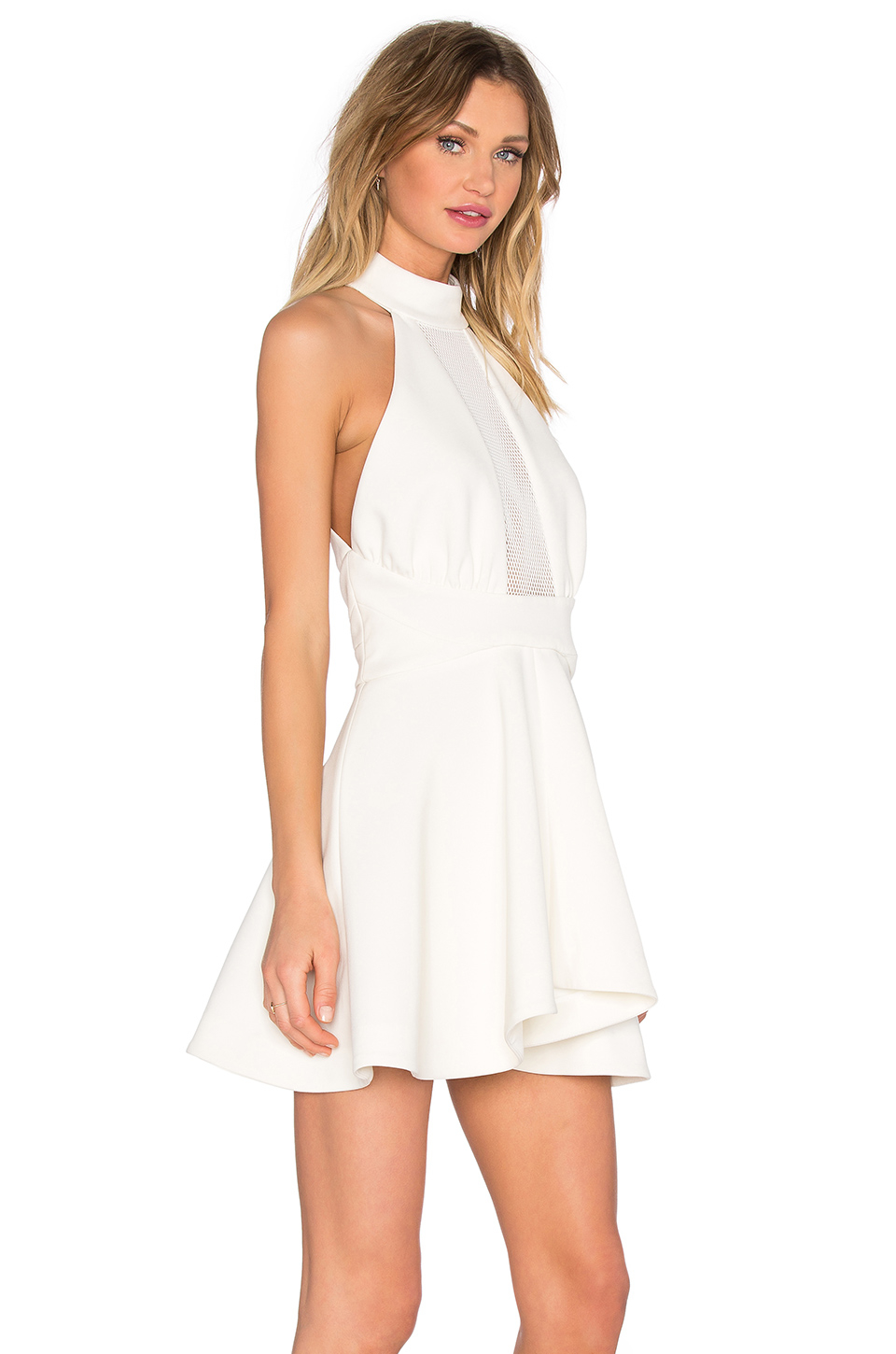 Kendall Kylie Maliboo Tee Top White On Tradesy: Kendall + Kylie Mesh Inset Halter Dress In White