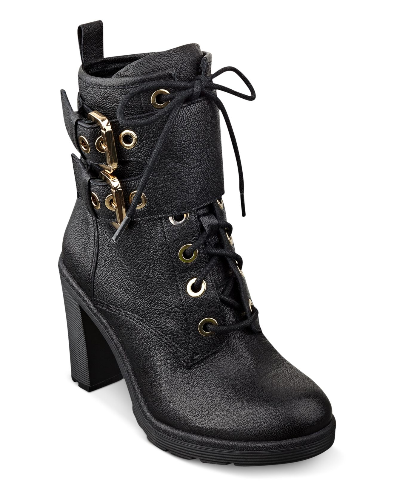 Women\u0027S Finlay High Heel Combat Booties
