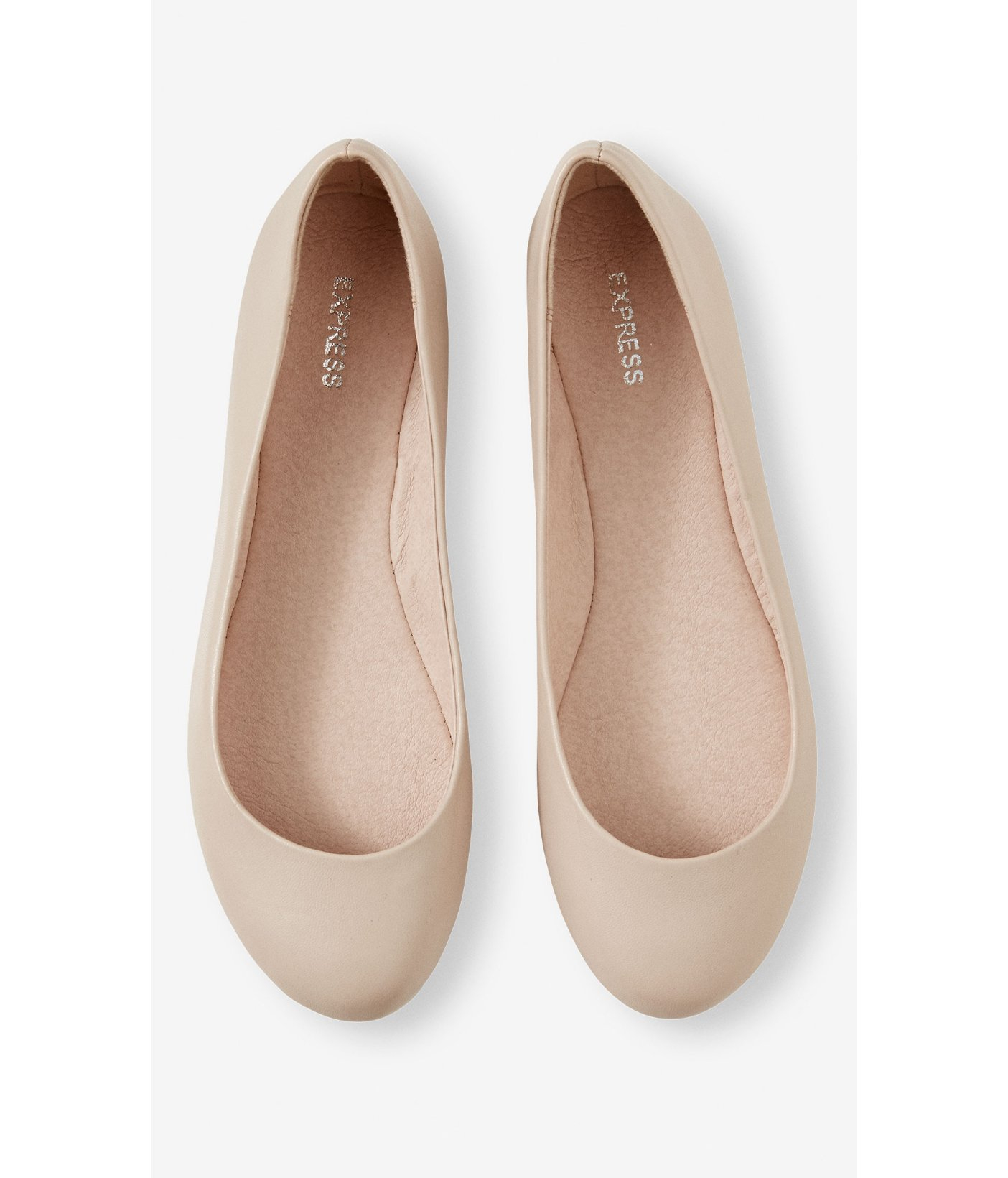 Round Toe Ballet Flat in Nude Blush