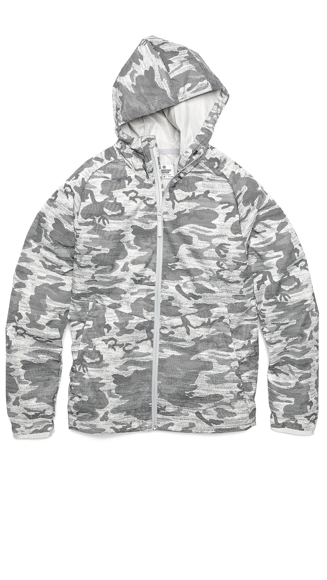Steven Alan Camo Print Hooded Jacket in Heather Grey (Grey) for Men