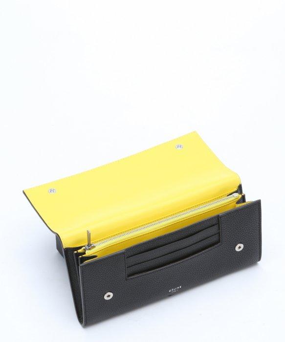 celine purse buy online - C��line Black Leather Snap Button Continental Wallet in Black | Lyst