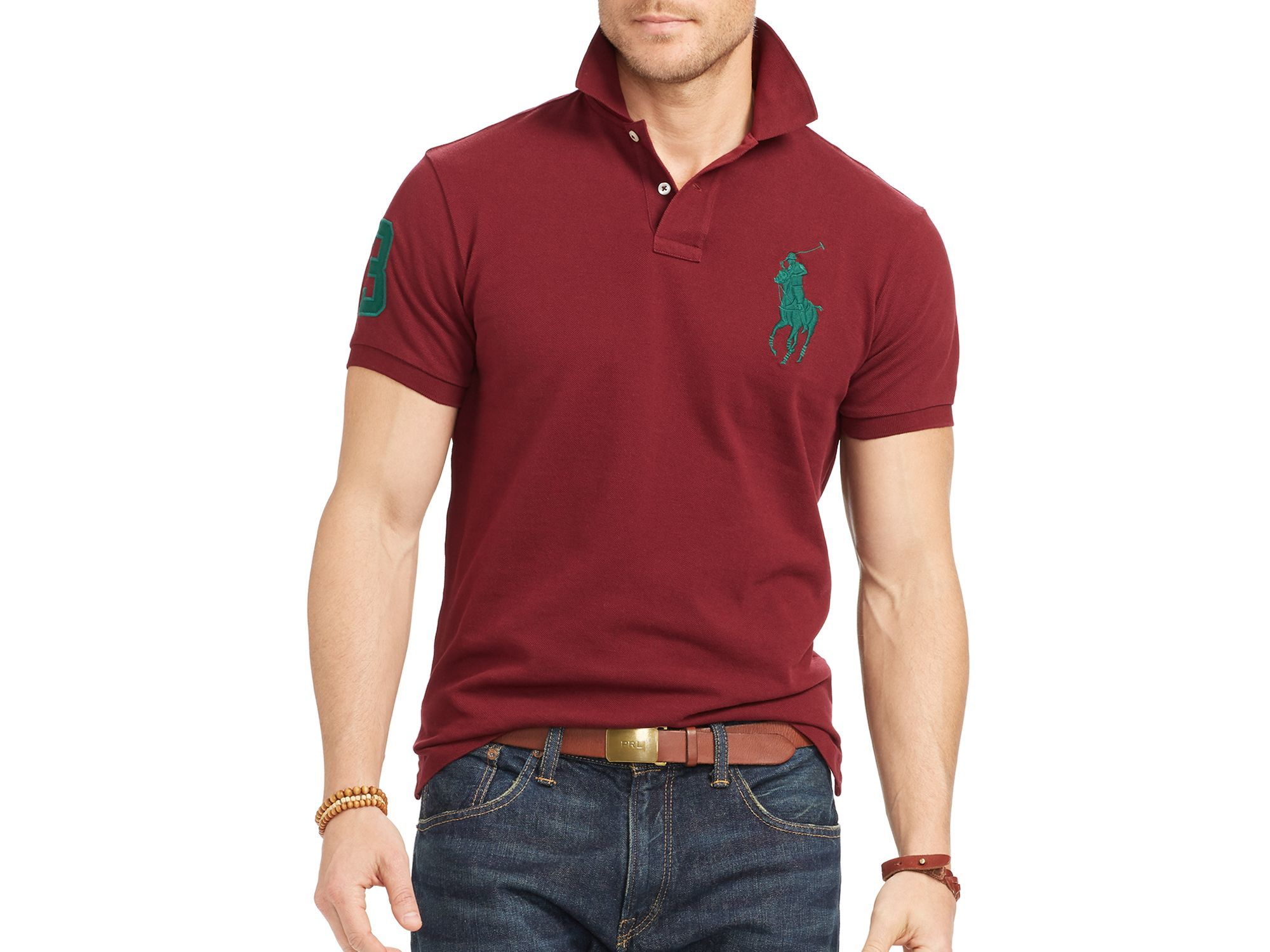 Pink pony Classic-fit Big Pony Polo in Purple for Men | Lyst
