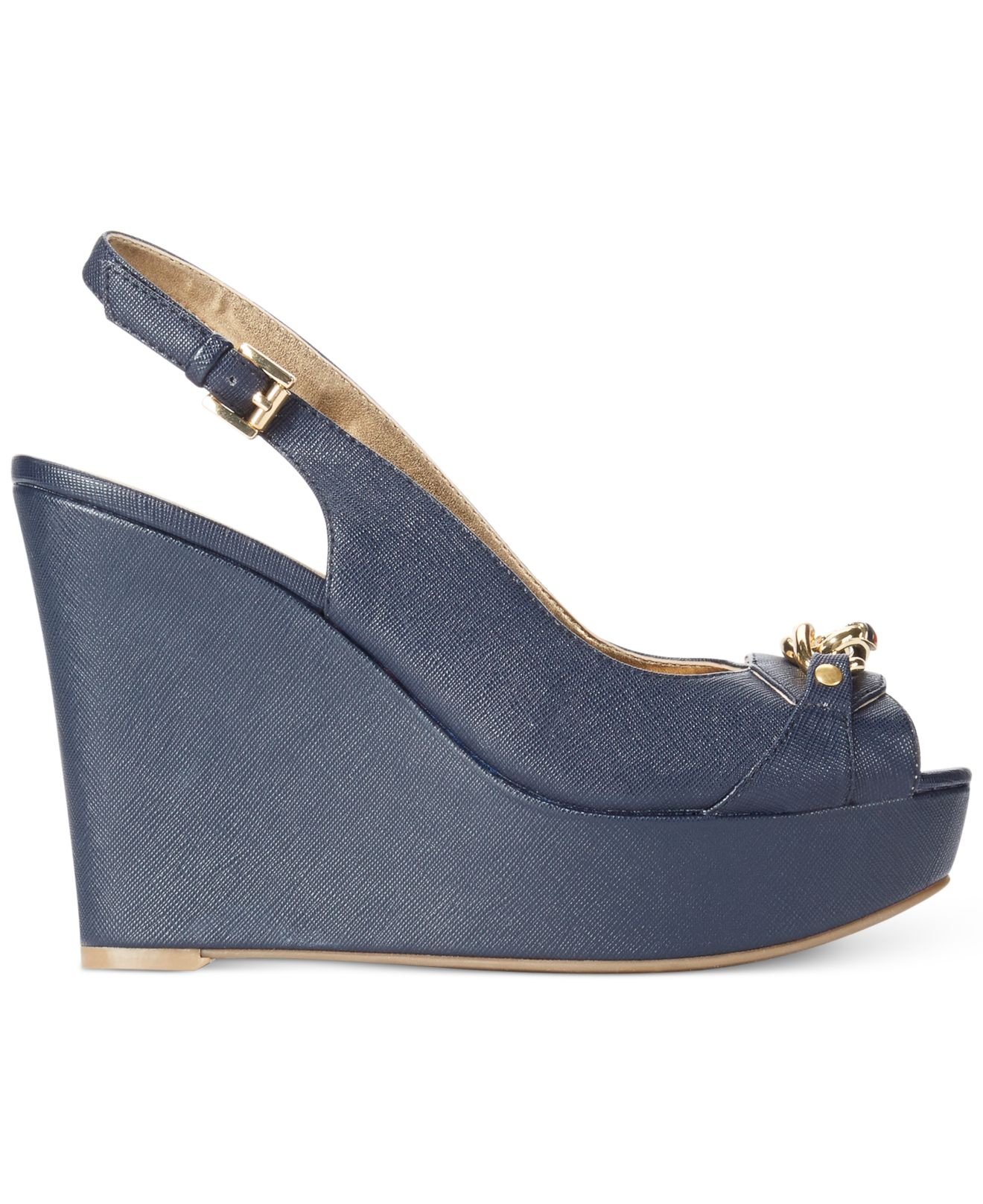 3707a763f6c1 Lyst - Tommy Hilfiger Women S Mercedi Platform Wedge Sandals in Blue