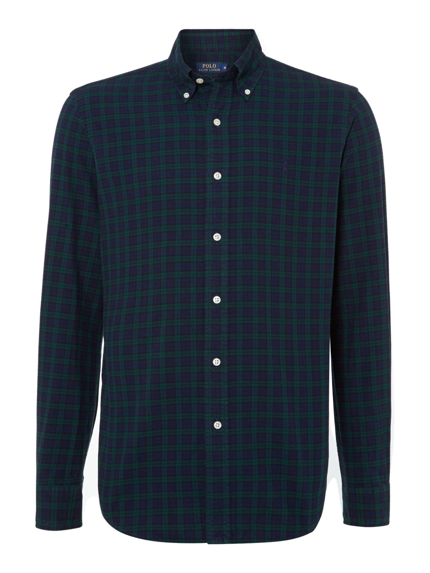 Polo Ralph Lauren Long Sleeve Custom Fit Blackwatch Oxford