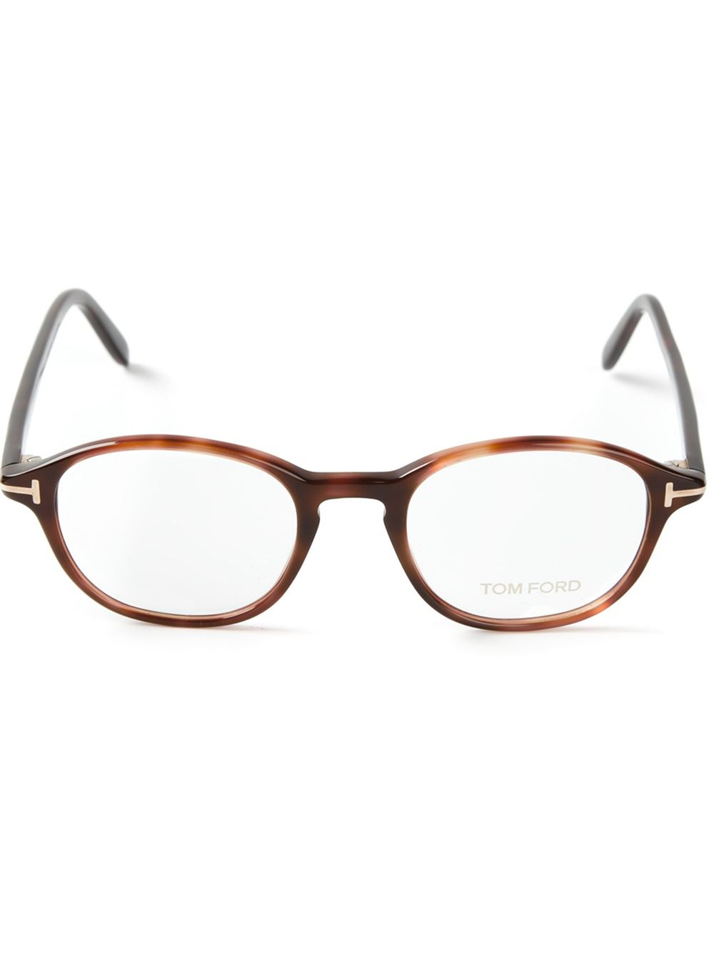 6c1bee8c8b8 Lyst - Tom Ford Tortoise Shell Glasses in Brown