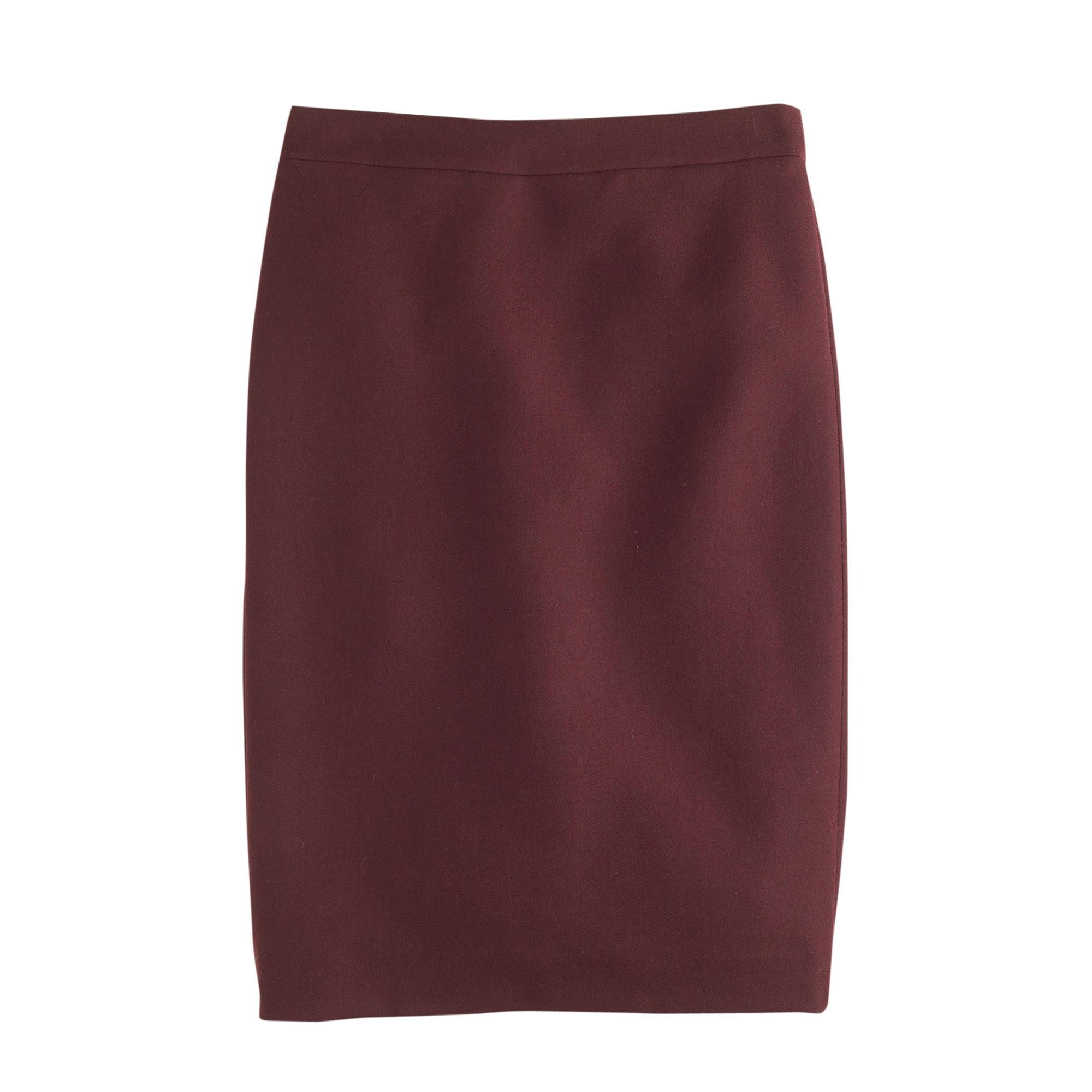 j crew no 2 pencil skirt in serge wool in