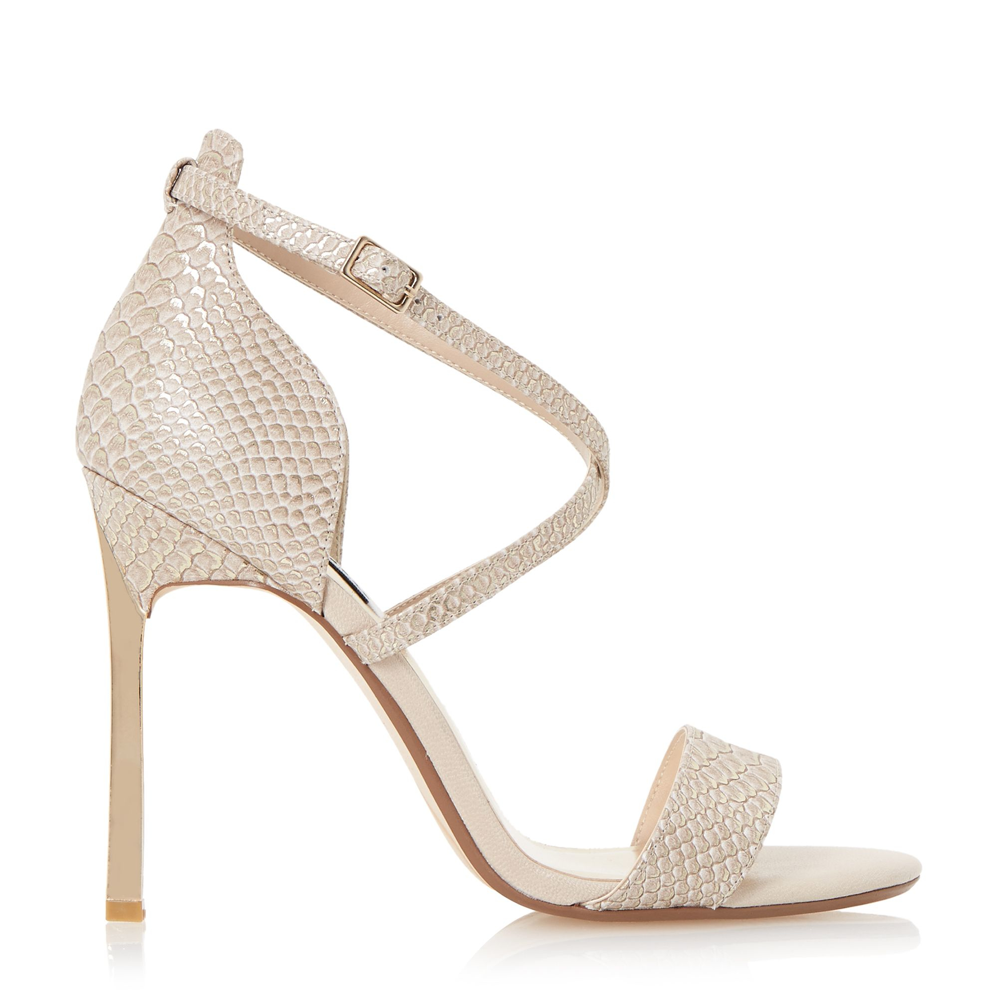 Gold Sandal Heels Strappy
