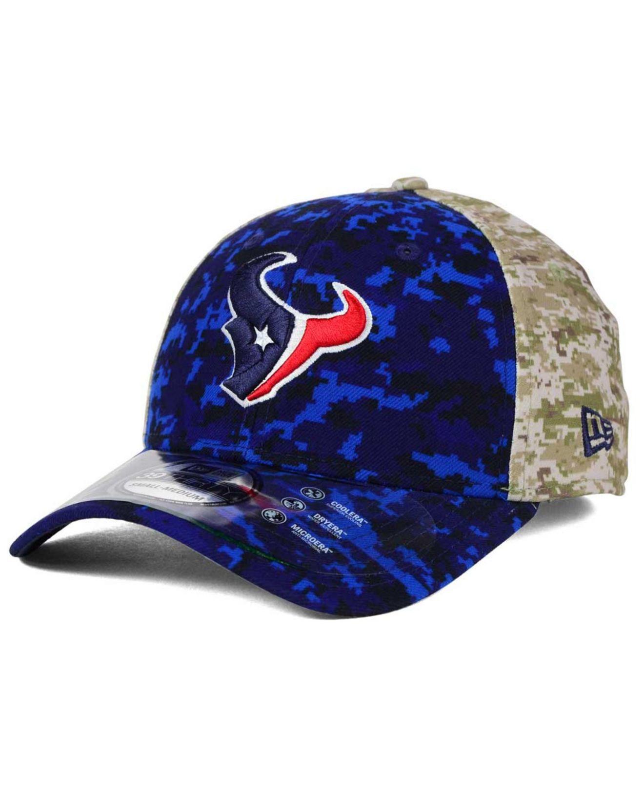 3bd92607b4614e KTZ Houston Texans Salute To Service 39thirty Cap in Blue for Men - Lyst