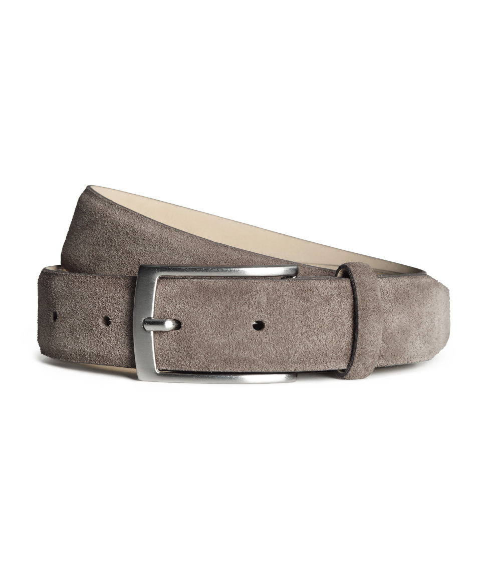 h m suede belt in brown for lyst