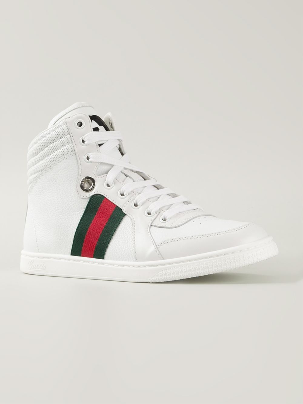 gucci 39 coda 39 hi top sneakers in white lyst. Black Bedroom Furniture Sets. Home Design Ideas