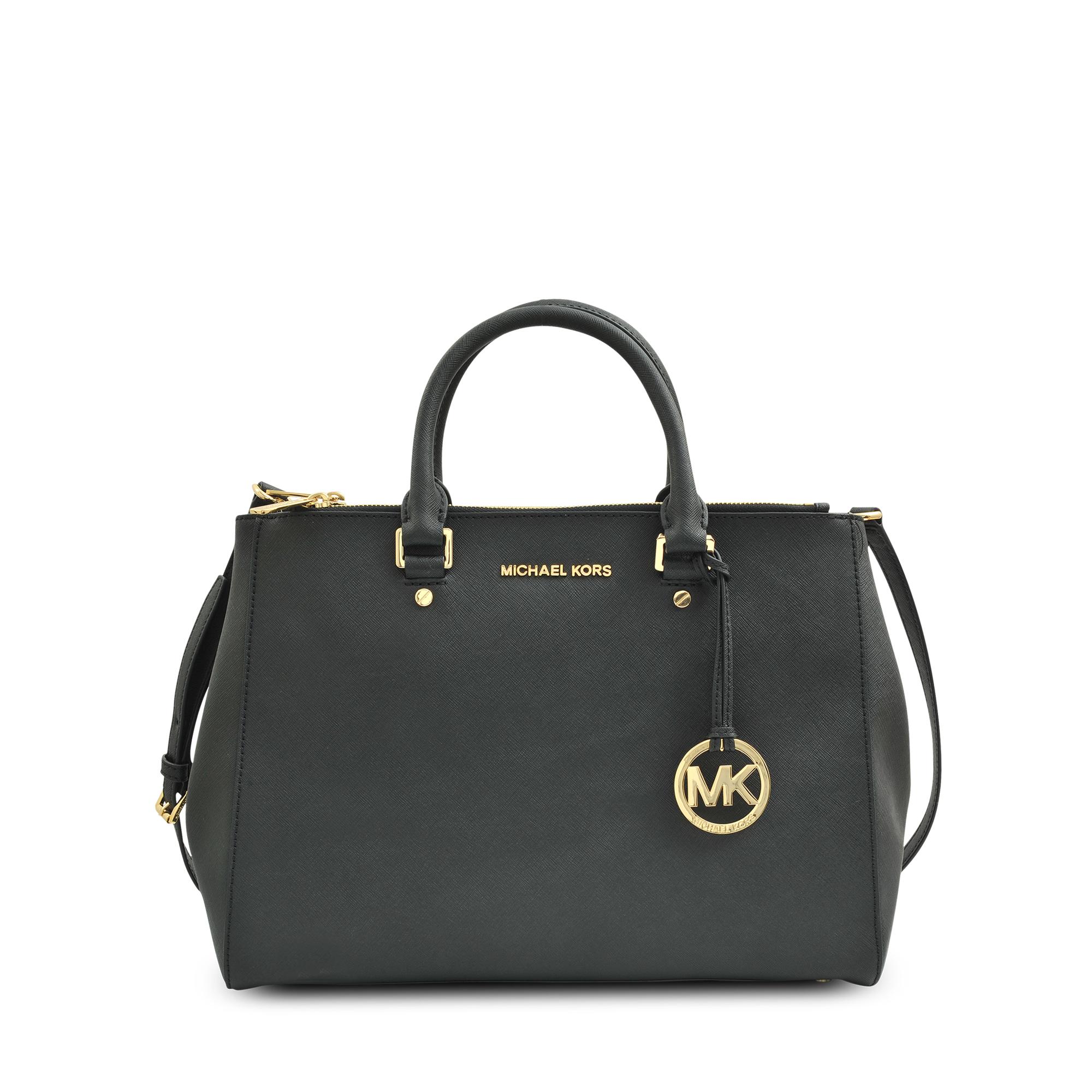 michael kors zip tote jet set travel bag in black