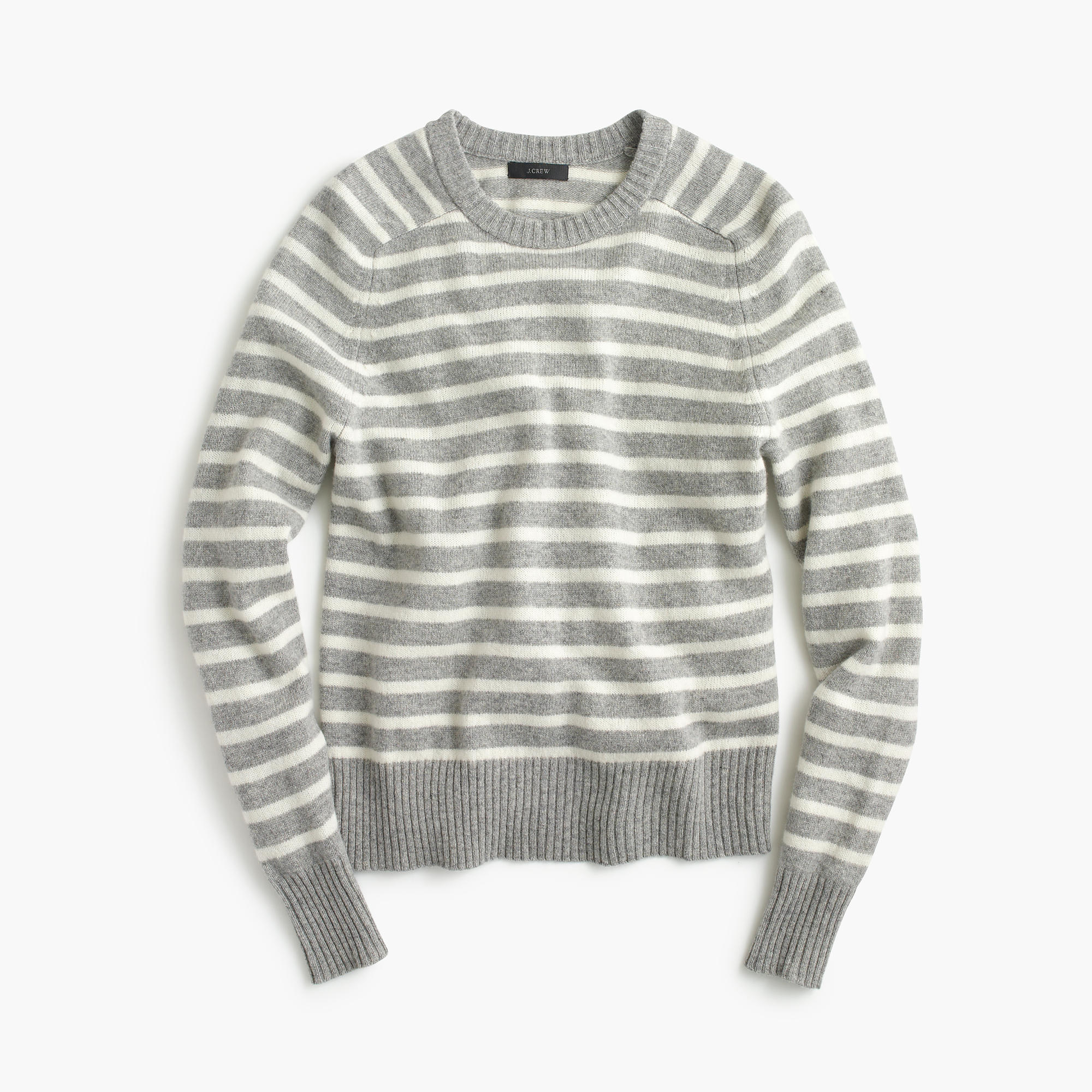 f818c8abc11c Lyst - J.Crew Holly Sweater In Stripe in Gray