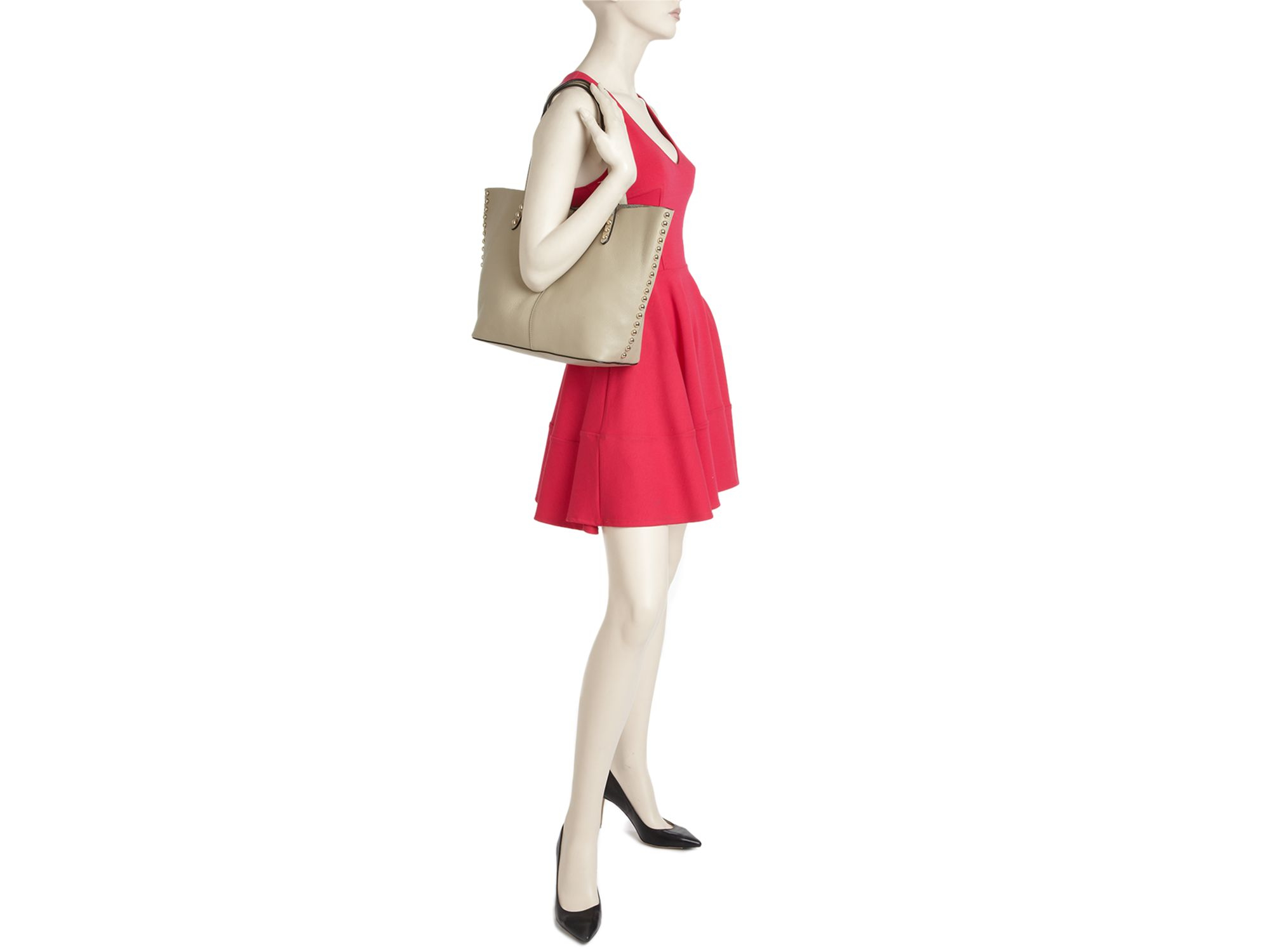 Rebecca Minkoff Leather Tote - Unlined in Flamingo (Natural)