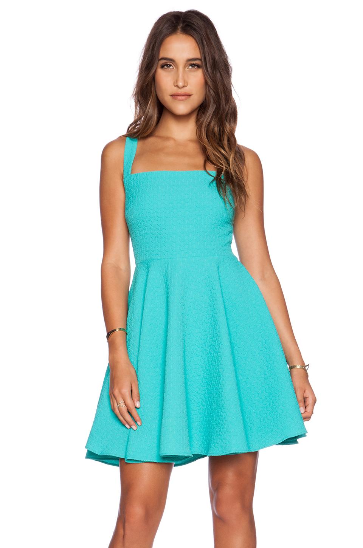 ed2d208553f Lyst - Greylin Aliz Skater Dress in Blue