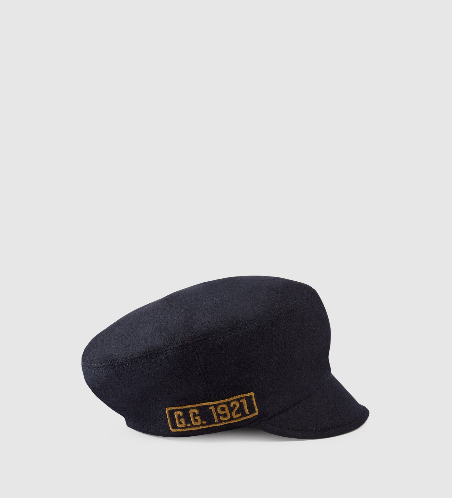 Lyst - Gucci Wool Cap With Military Patches in Blue for Men 11b58615626