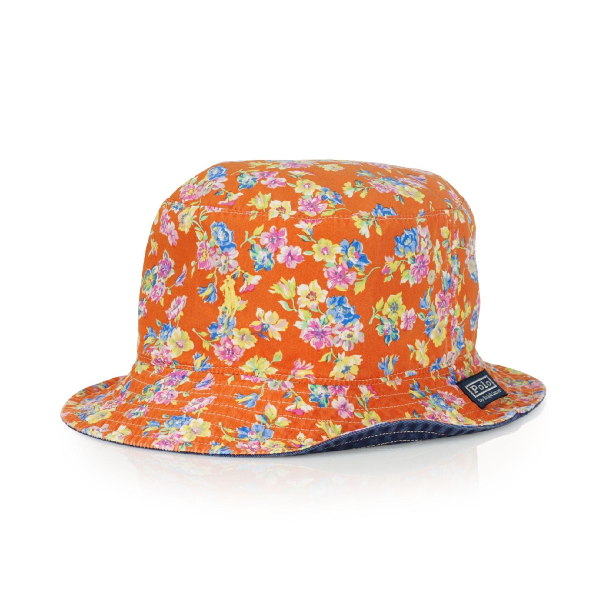 1f969417e93fc Ralph Lauren Polo Reversible Floralprint Bucket Hat in Orange for ...