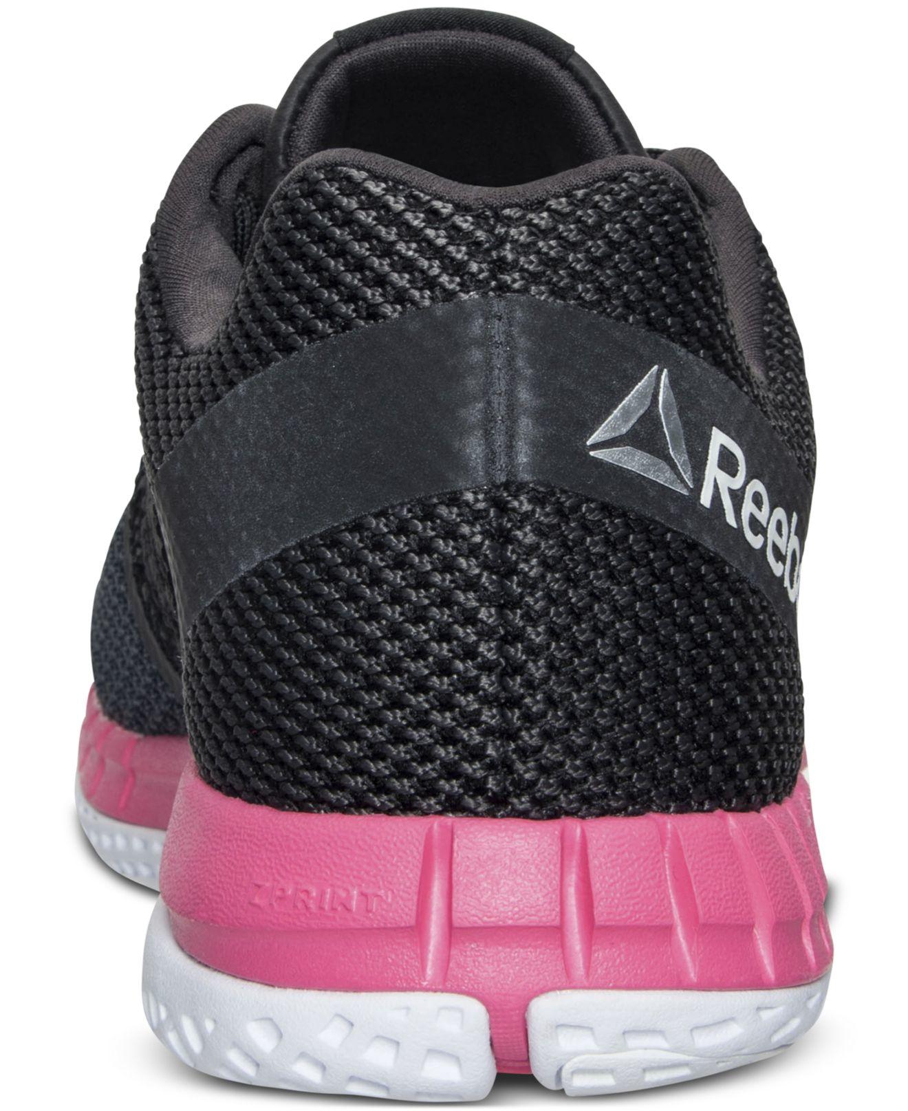 899fdbdfee8 Lyst - Reebok Women s Zprint Running Sneakers From Finish Line in Black