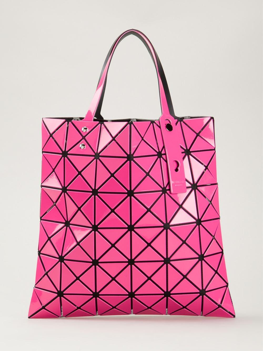 Bao Bao Issey Miyake 'W' Tote in Pink & Purple (Pink)
