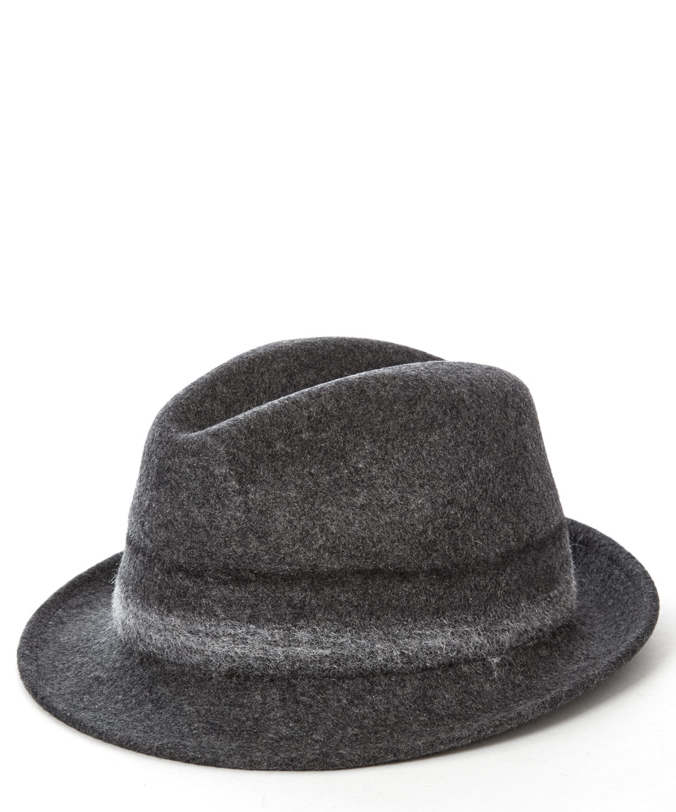 a0758a68a61e4 Lyst - Paul Smith Grey Bonded Wool Trilby Hat in Gray for Men