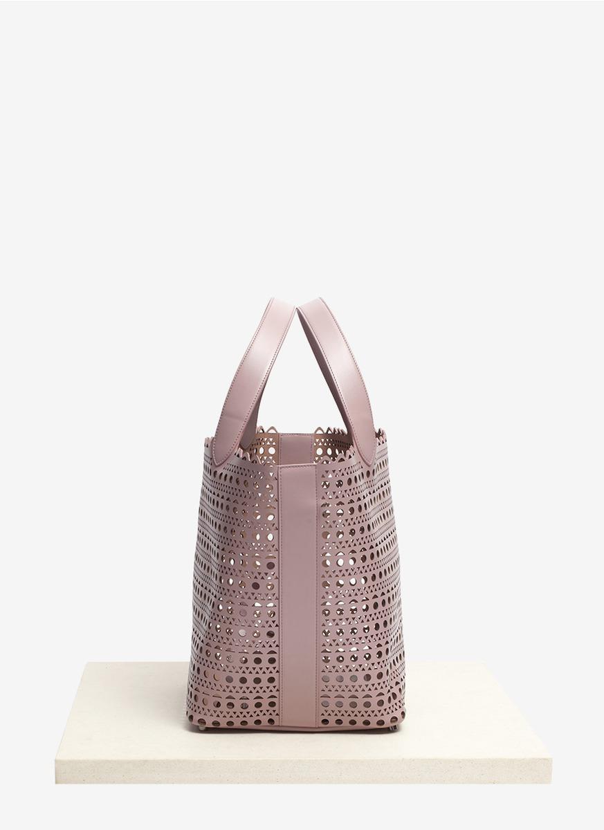 Pink perforated Small tote bag Alaia XxhQxhb