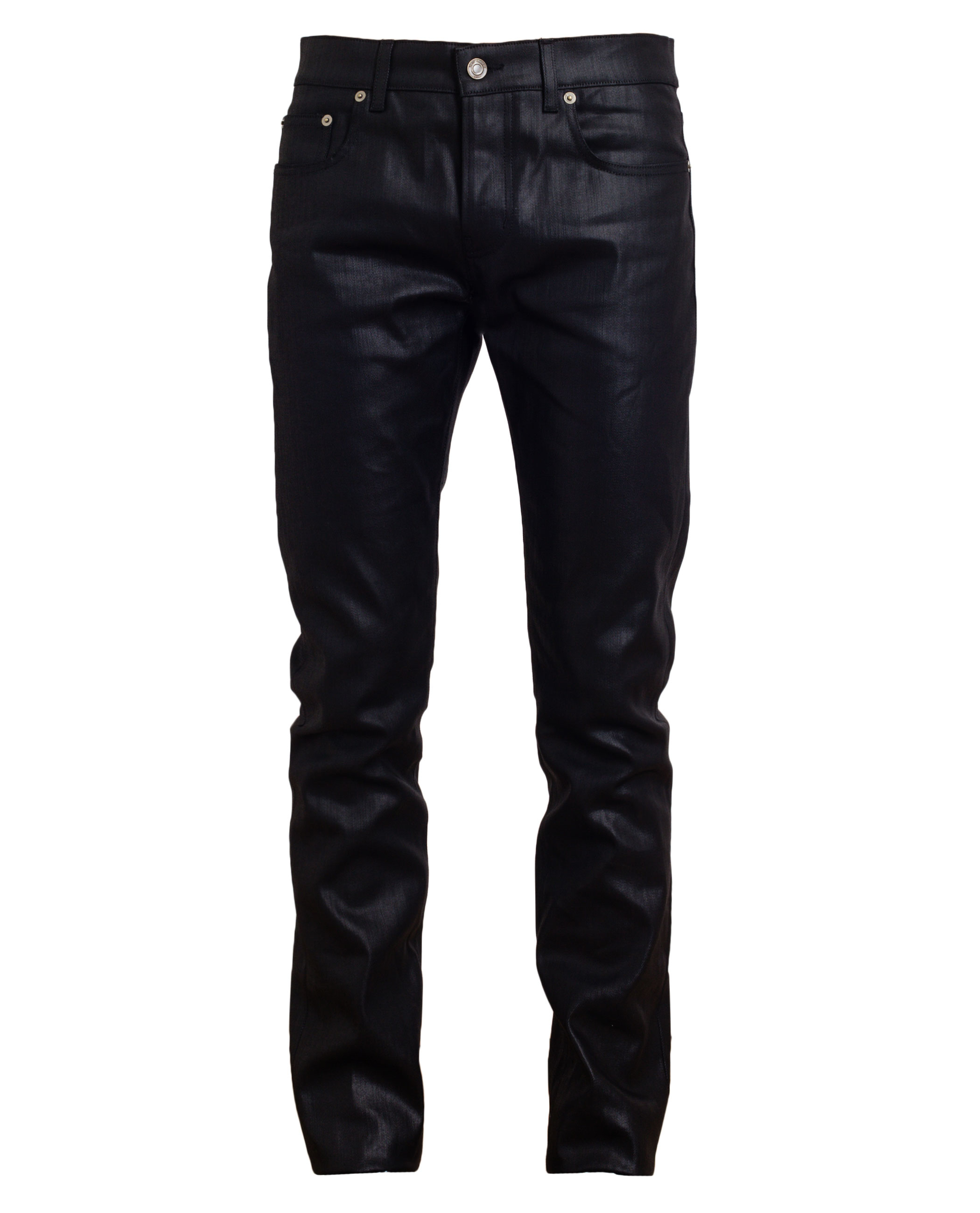 saint laurent coated denim jeans in black for men lyst. Black Bedroom Furniture Sets. Home Design Ideas
