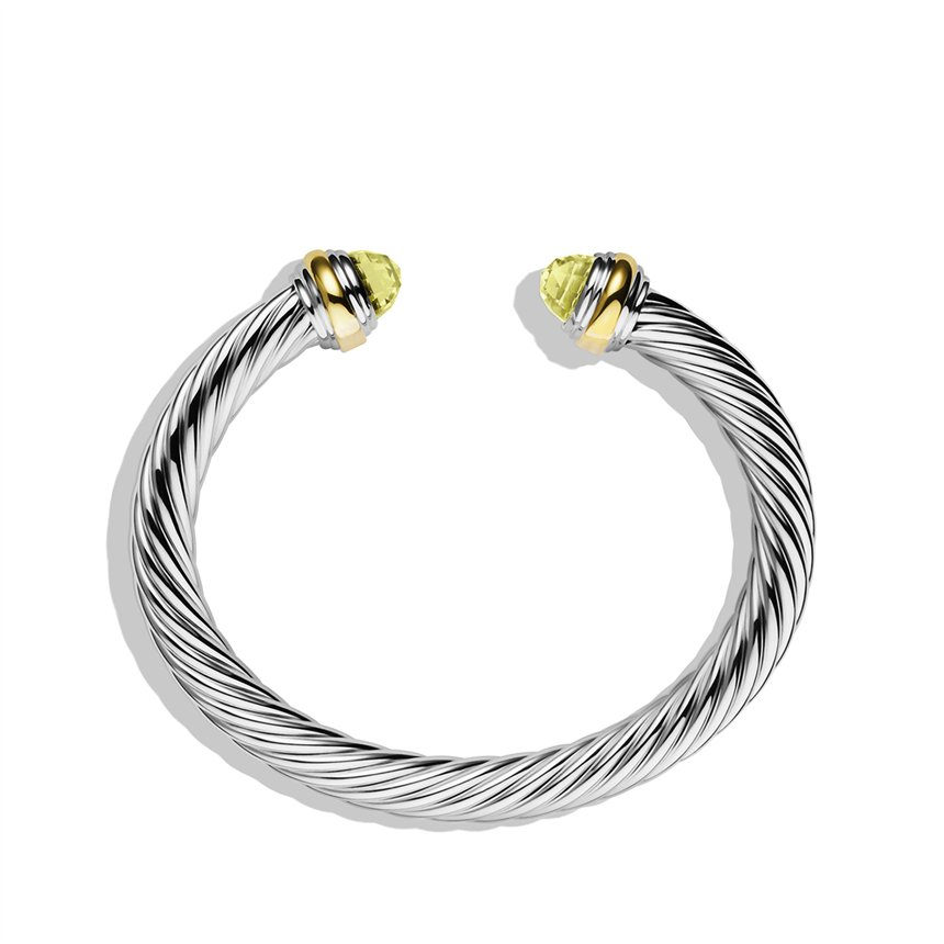 David Yurman Cable Classics Bracelet With Lemon Citrine
