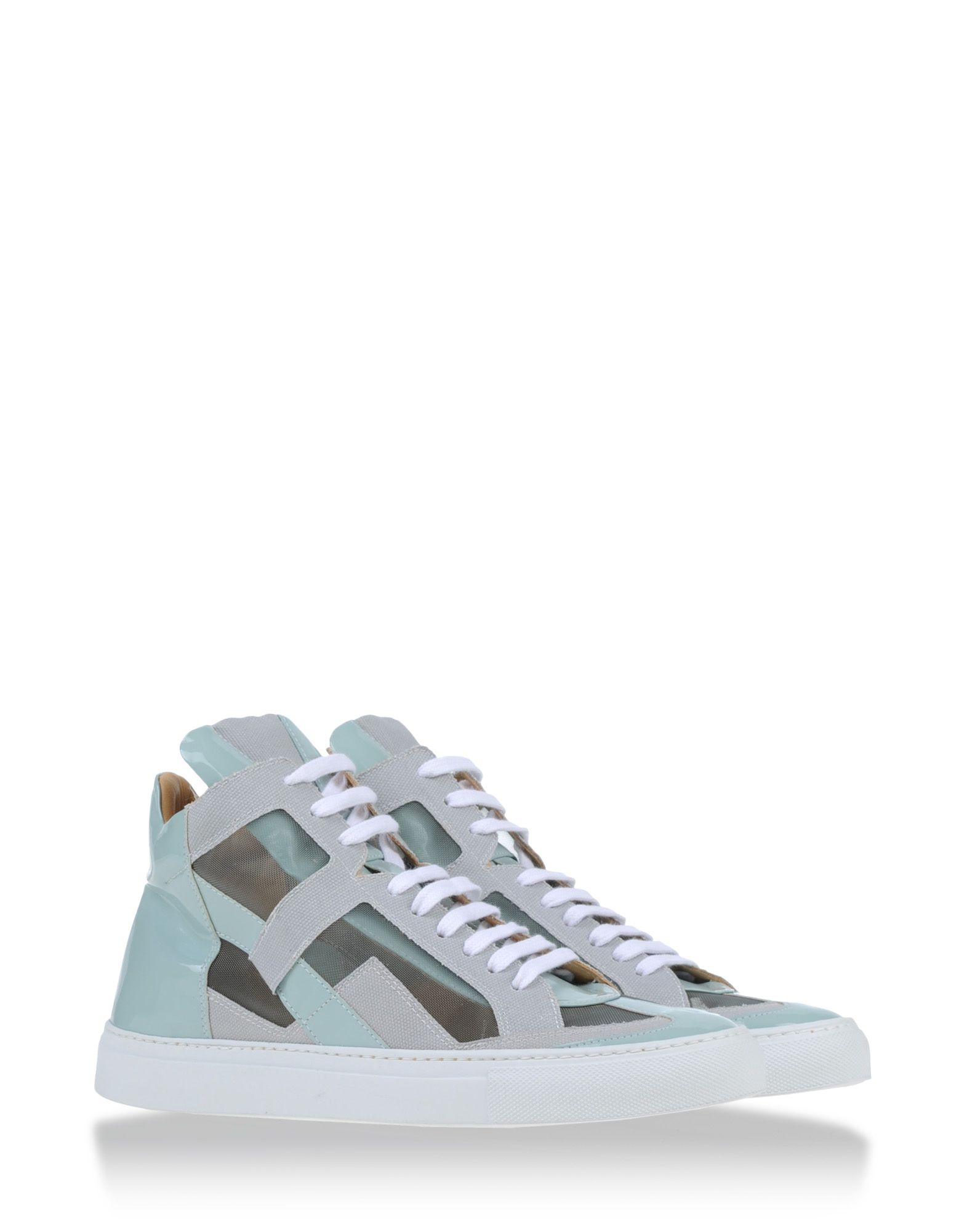 Mm6 by maison martin margiela high top sneakers in teal for Mm6 maison martin margiela