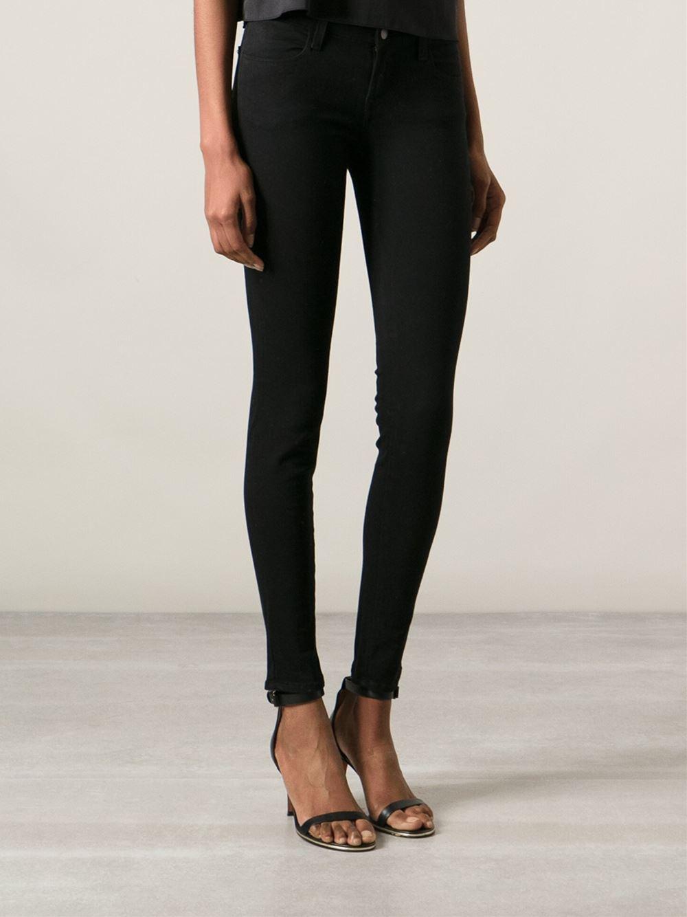 j brand skinny jeans in black lyst. Black Bedroom Furniture Sets. Home Design Ideas