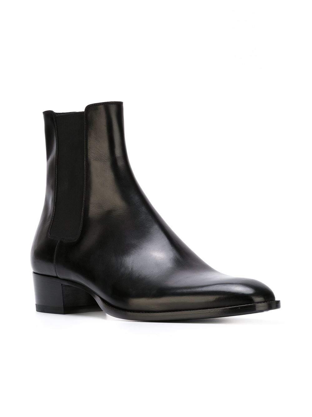 Saint Laurent Hedi Chelsea Boots In Black For Men Lyst