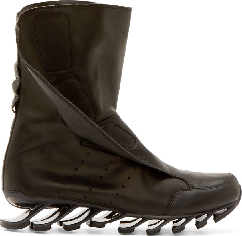 Rick owens Black Adidas By Springblade Boots in Black for Men | Lyst