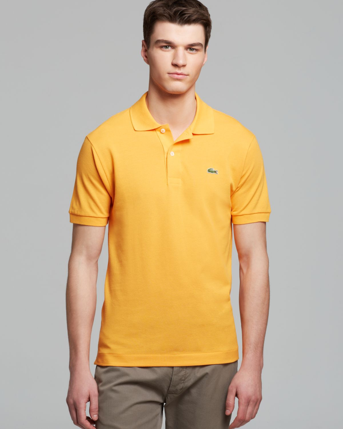 9969daaa5d41 Lyst - Lacoste Classic Short Sleeve Pique Polo Shirt in Yellow for Men