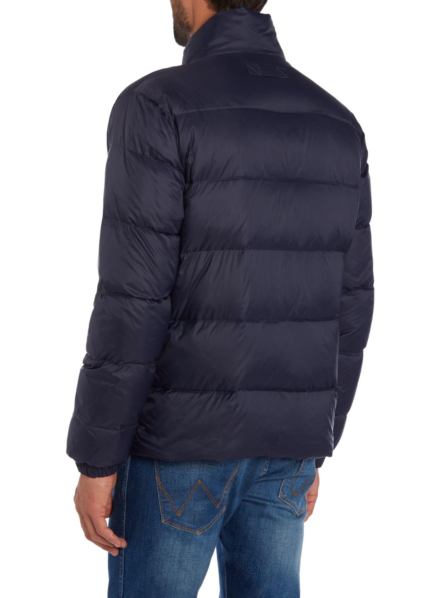 Lyst Gant Lightweight Down Jacket In Blue For Men