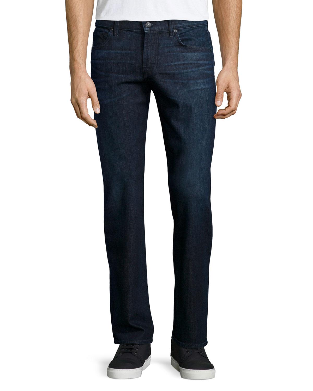 for all mankind carsen neapolitan denim jeans in blue for men denim. Black Bedroom Furniture Sets. Home Design Ideas
