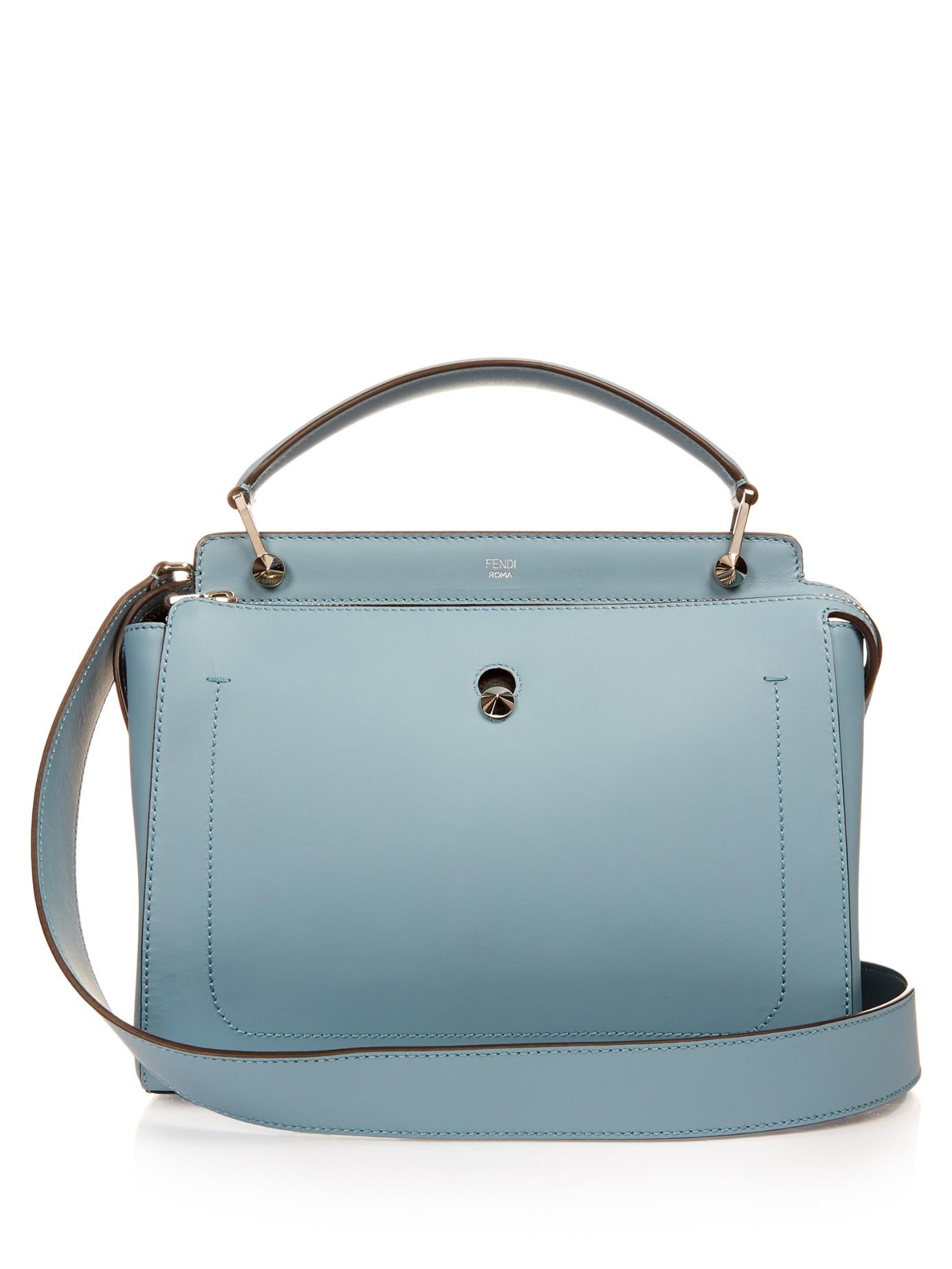 5ddaef5458 ... handbags f8ef4 ed20a canada fendi dot com shoulder bag 7d1e2 84a2c  where to buy lyst fendi dotcom leather bag in blue 9bd12 3dcc3 ...