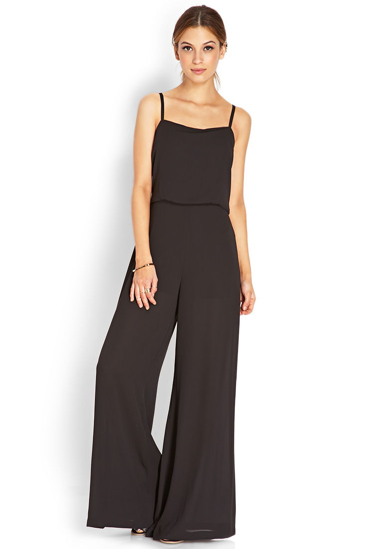 Forever 21 Musthave Jumpsuit In Black Lyst