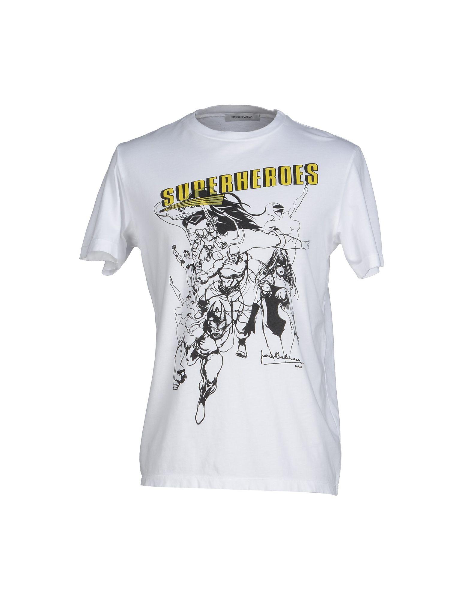 Balmain T Shirt In White For Men Lyst