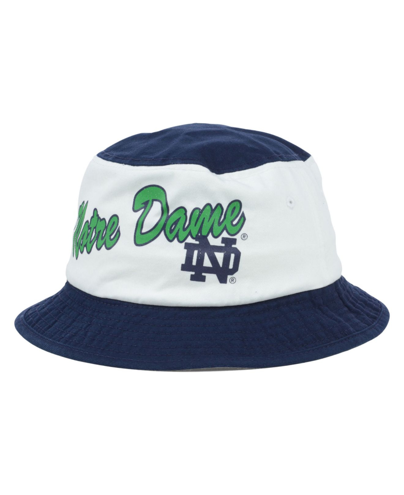 super popular a9ca7 51985 ... shop lyst adidas notre dame fighting irish script bucket hat in blue  c86f8 bca4b