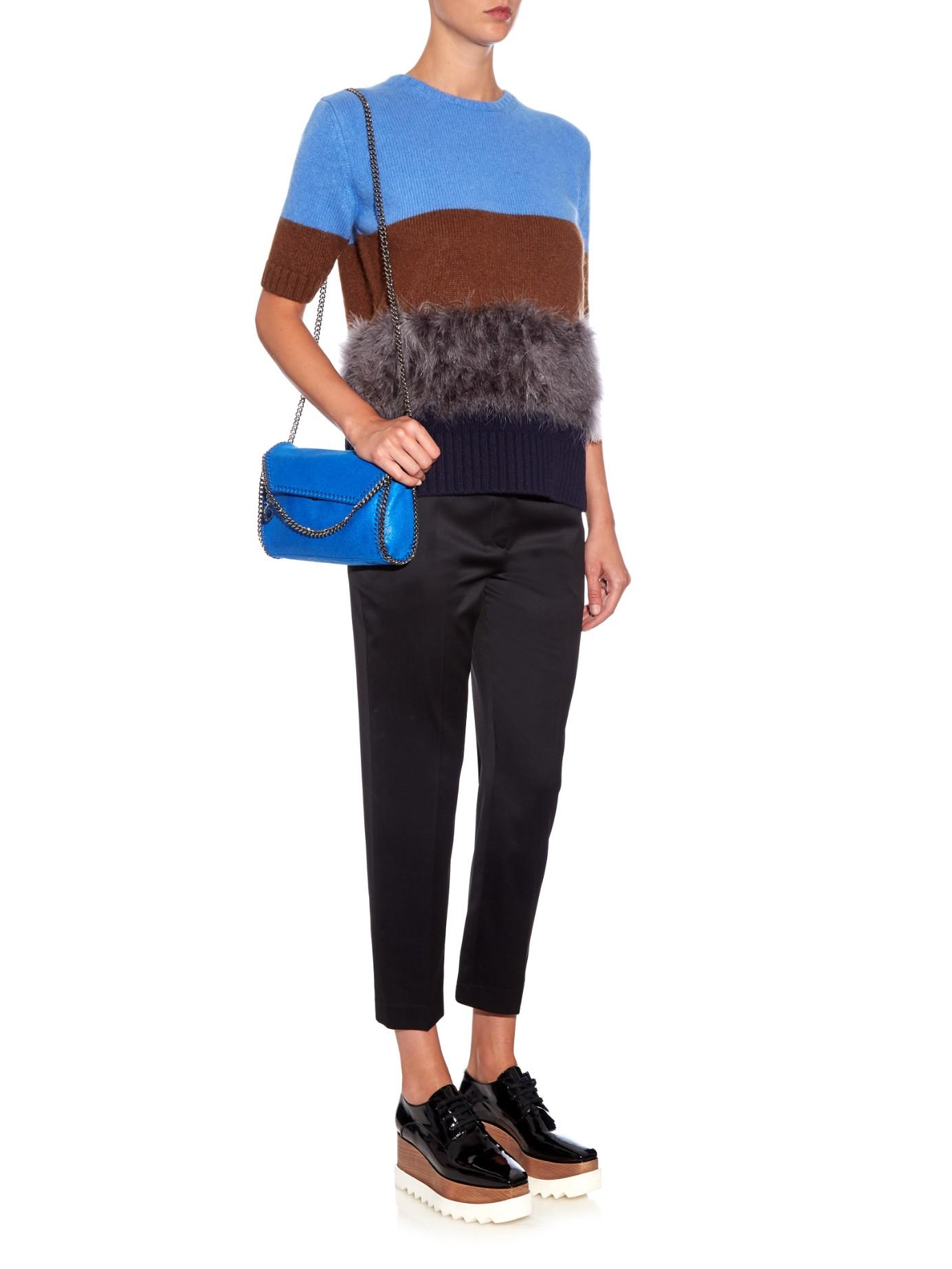 4e6f14452a Lyst - Stella McCartney Falabella Small Faux-Suede Cross-Body Bag in ...