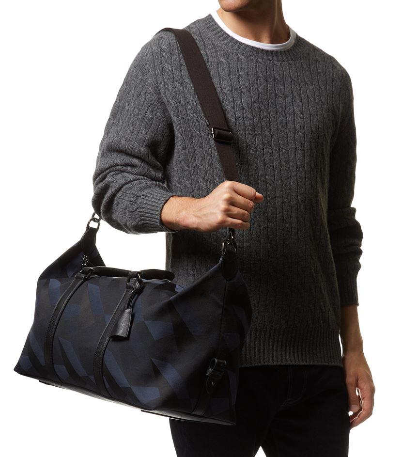 567b9ec7e1f ... where can i buy mulberry camo canvas clipper bag in blue for men lyst  e9758 1e77e