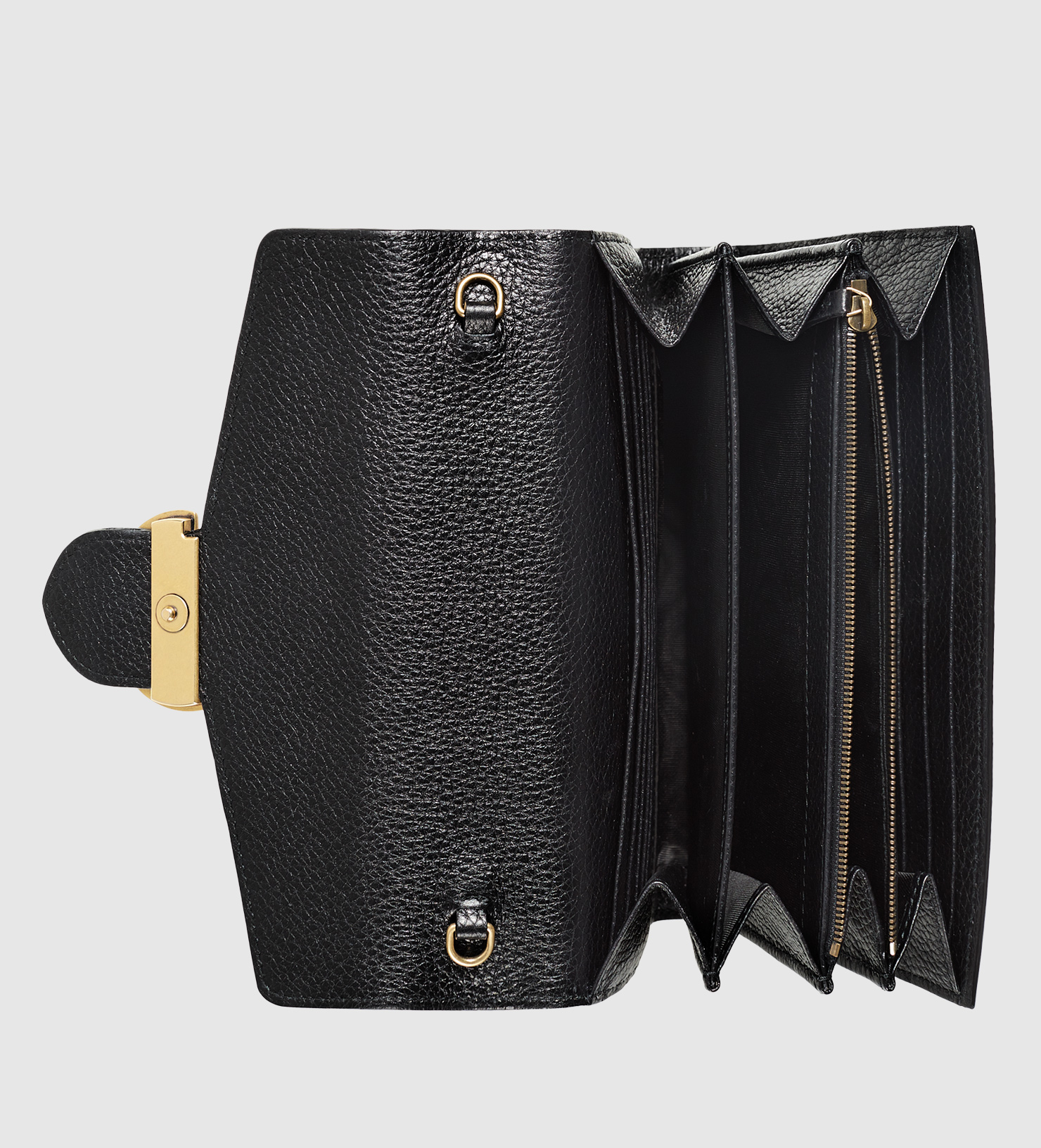 Lyst - Gucci Gg Marmont Leather Chain Wallet in Black